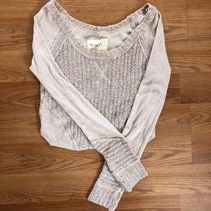Free People Blush Cropped Sweater